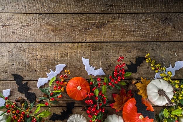 Wesołych świąt halloween, nietoperze, duchy, dynie