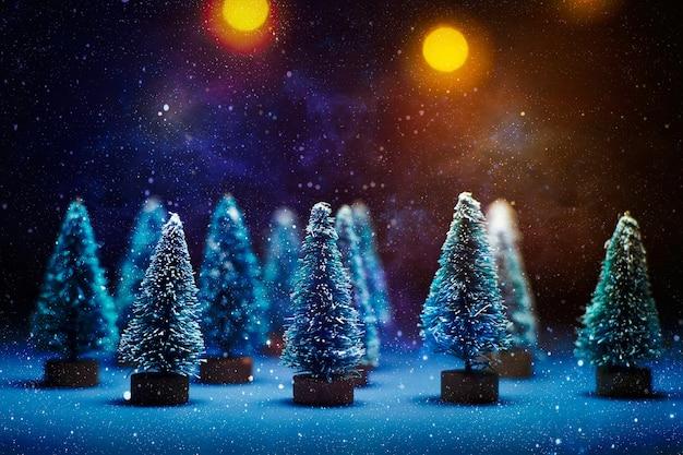 Wesołych świąt i szczęśliwego nowego roku. nowy rok w tle z dekoracjami na nowy rok.