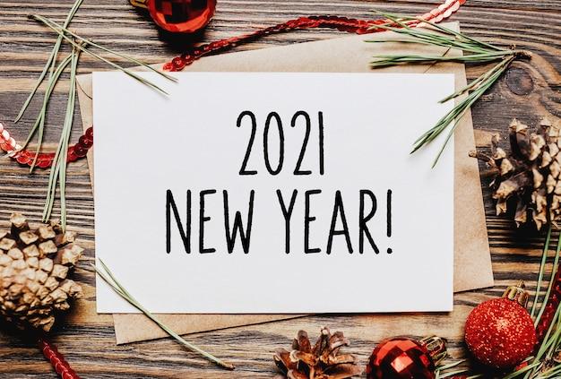 Wesołych świąt i wesołego nowego roku notes z tekstem 2021 nowy rok