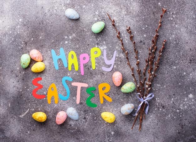 Wesołych świąt tekst i kolor jaj