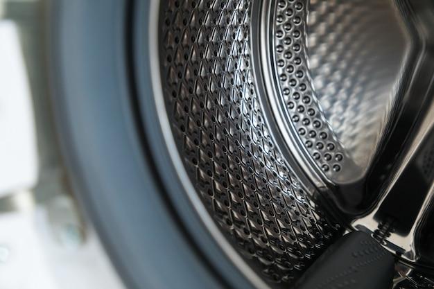 Wewnątrz pralki. umyj szczegóły maszyny.