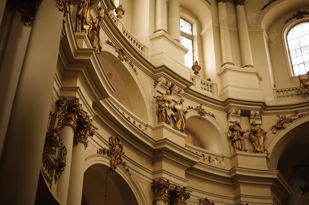 Wewnętrzna fasada katedry