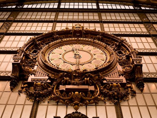 Wewnętrzny widok zegar przy musee d'orsay