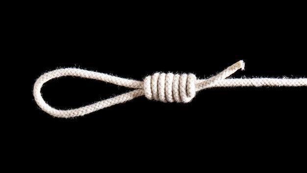Węzeł sznurka skręconej bawełny