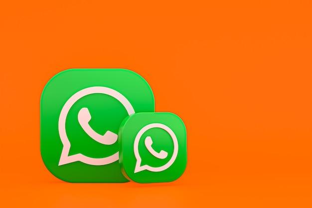Whatsapp logo 3d ikona renderowania tła