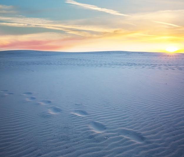 White sands dunes w nowym meksyku, usa
