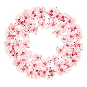 Wianek z kwiatów wiśni
