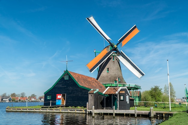 Wiatrak piękności w holandii