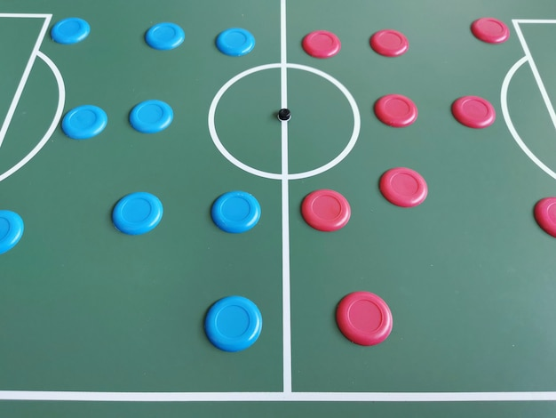 Widok brazylijskiej piłki nożnej przycisku.