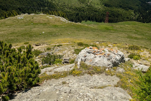 Widok bucegi góry, rumunia