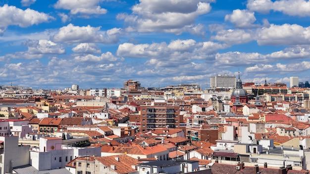 Widok budynków w madrycie, hiszpania