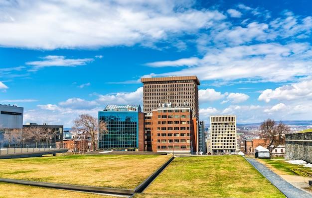 Widok budynków w mieście quebec - kanada