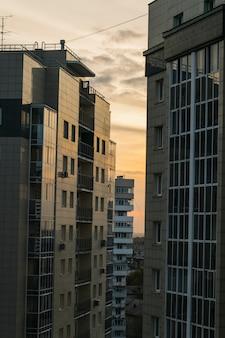 Widok budynków wielokondygnacyjnych
