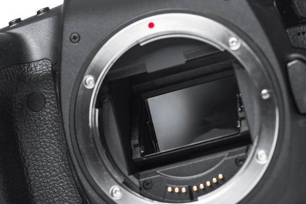 Widok cyfrowy aparat fotograficzny