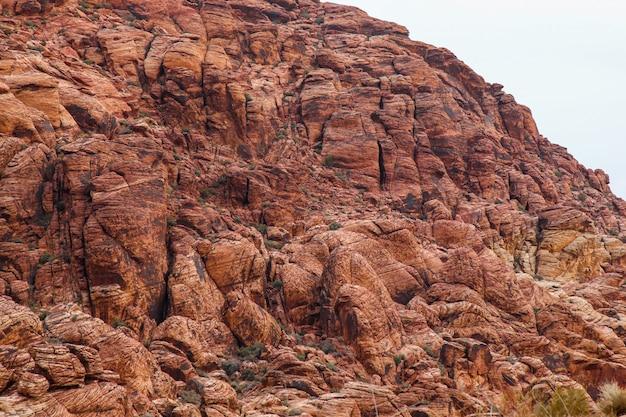 Widok czerwieni skały jaru park narodowy