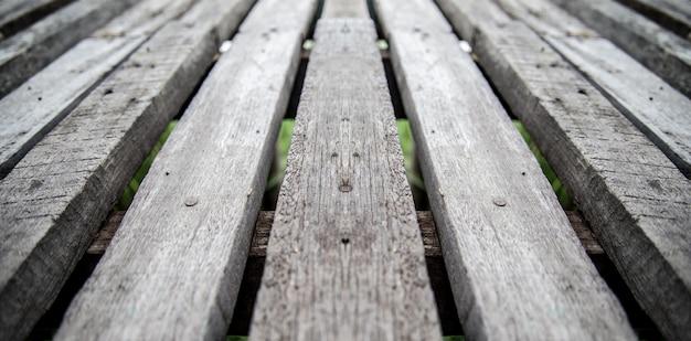 Widok drewniane ściany z bliska na tle i zabytkowe drewniane podłogi
