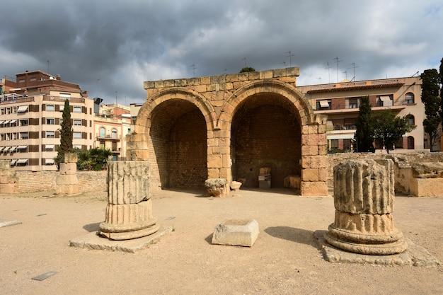 Widok forum tarragona, katalonia, hiszpania