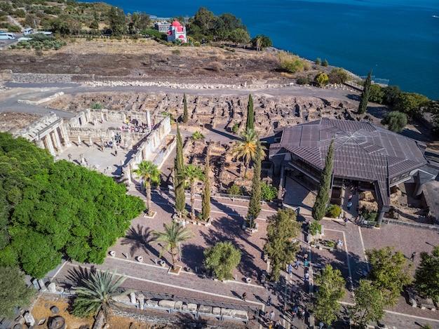 Widok kościoła kafarnaum