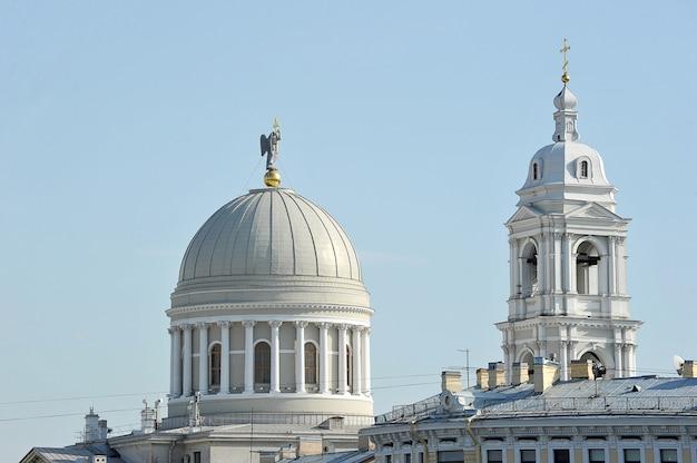 Widok kościoła katarzyny w petersburgu