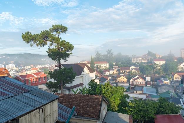 Widok miasta dalat, wietnam