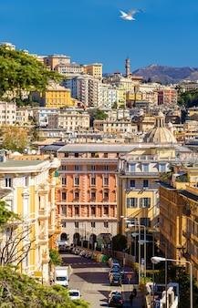 Widok miasta genua - włochy, liguria