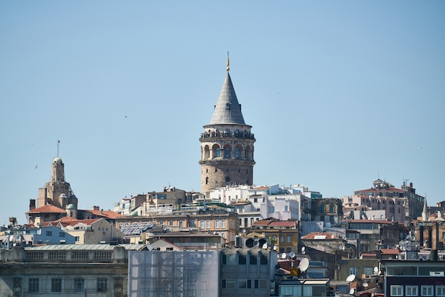 Widok miasta stambuł z turcji