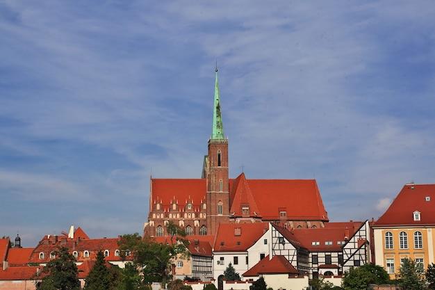 Widok miasta wrocław w polsce