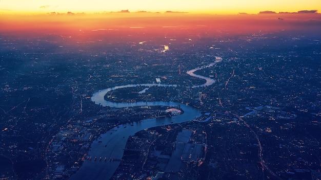 Widok miasta z lotu ptaka