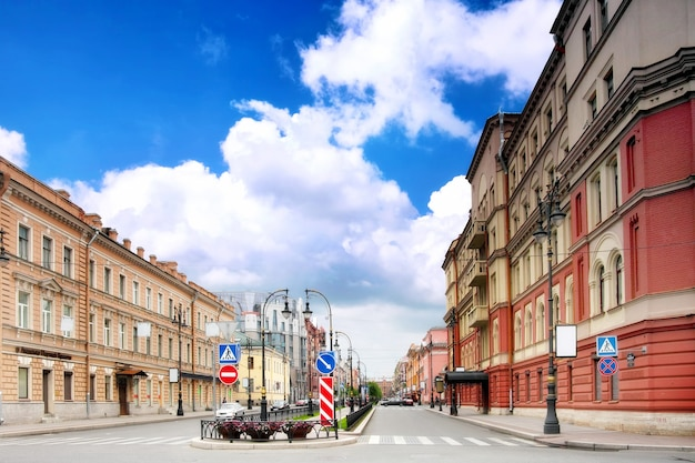 Widok miejski saint-petersburg.russia