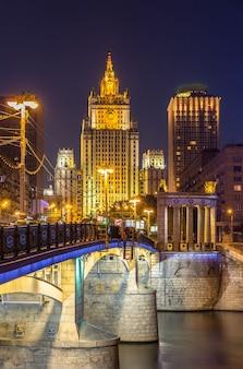 Widok ministerstwa spraw zagranicznych w moskwie