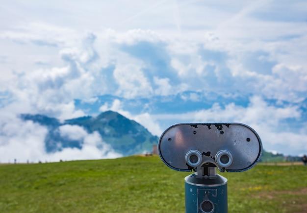 Widok na alpy szwajcarskie z rigi kulm