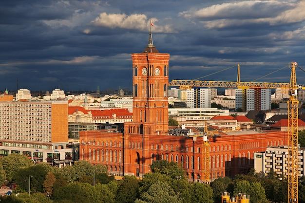 Widok na berlin, niemcy