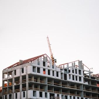 Widok na budowę w toku