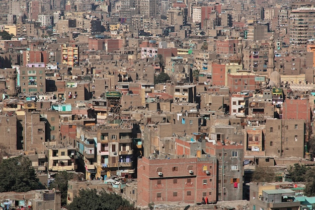 Widok na centrum kairu, egipt