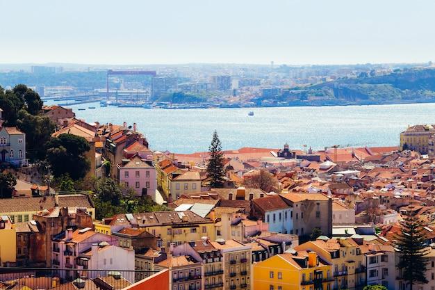 Widok na centrum lizbony