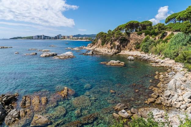 Widok na costa brava, hiszpania.