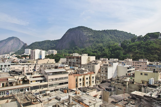 Widok na dachy w rio de janeiro, brazylia