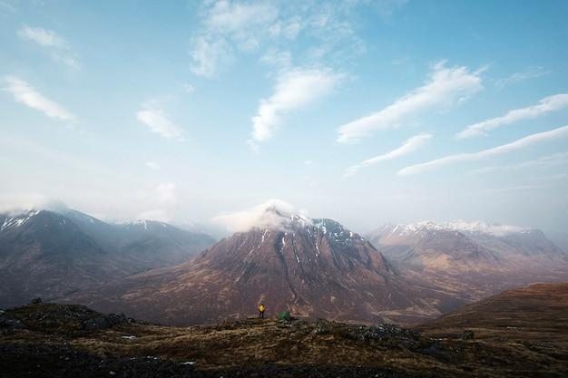 Widok na glen coe w szkocji