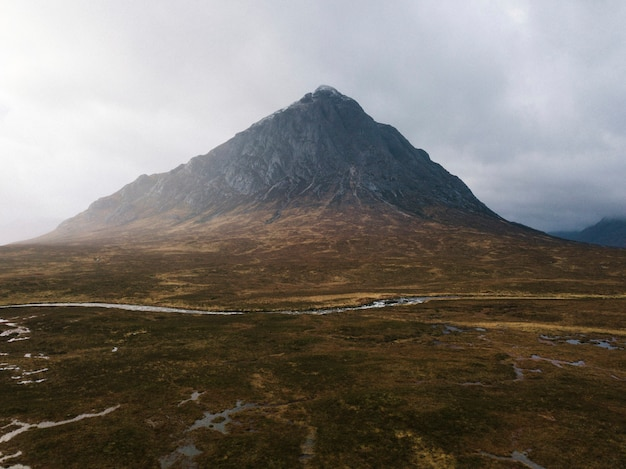 Widok na glen etive w szkocji