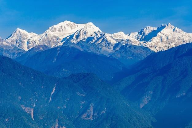 Widok na góry kangchenjunga