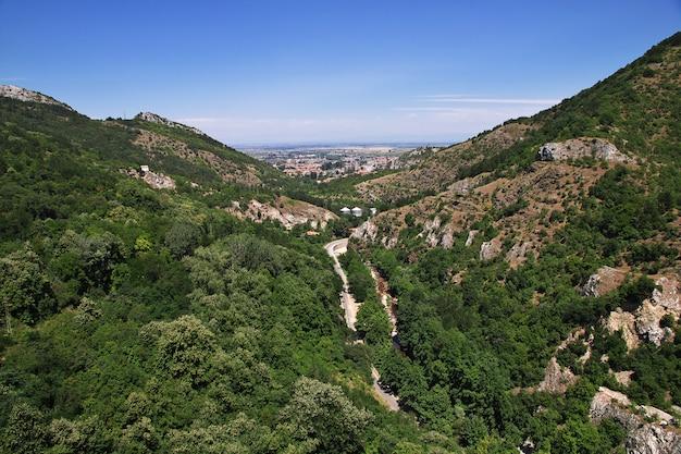 Widok na góry rhodopi, bułgaria