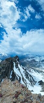 Widok na góry z górnej stacji kolejki linowej karlesjoch (3108m