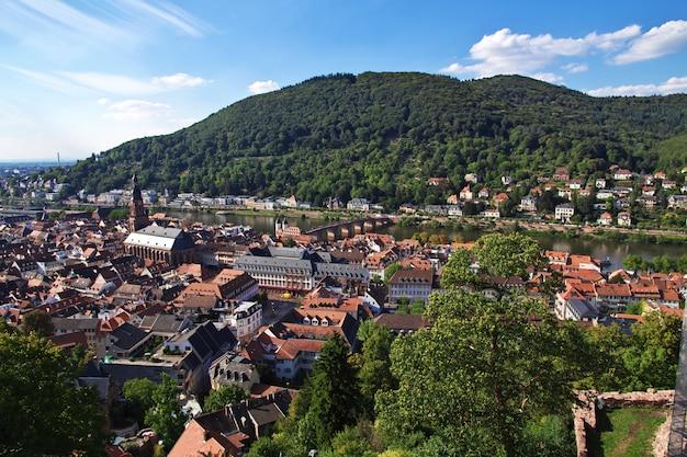 Widok na heidelberg, niemcy