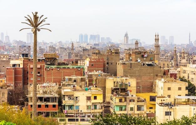 Widok na islamski kair egipt