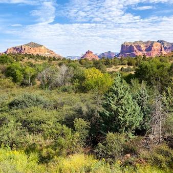 Widok na krajobraz czerwonej skały, sedona, arizona