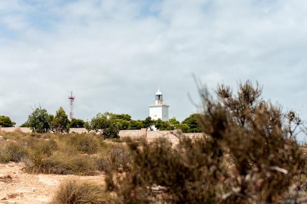 Widok na latarnię morską santa pola