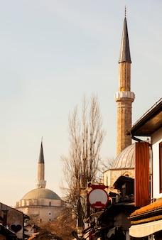 Widok na meczety w sarajewie