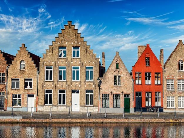 Widok na miasto brugia, belgia