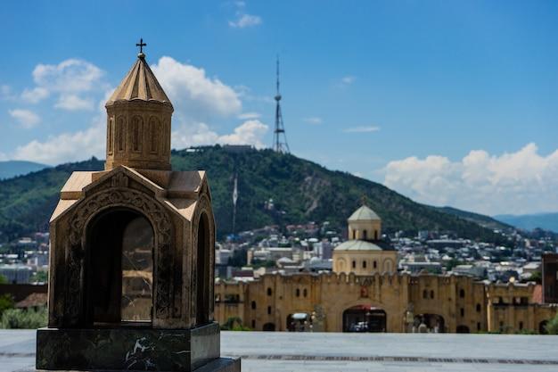 Widok na miasto tbilisi