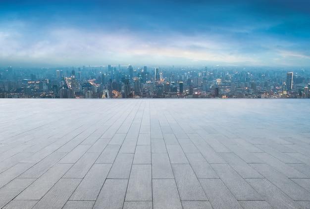 Widok na miasto z tarasu